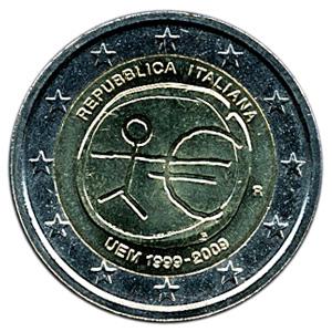 2ユーロ記念硬貨(にゆーろきねんこうか):裏