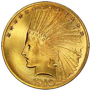 インディアン金貨(いんでぃあんきんか):表
