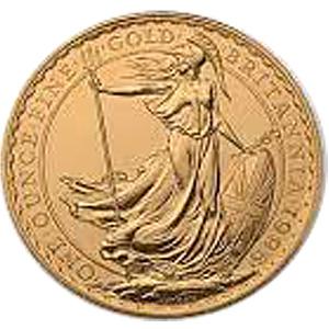 [イギリス]ブリタニア金貨(ぶりたにあきんか):裏