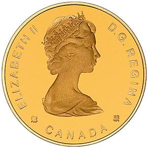 カナダ100ドル金貨(かなだひゃくどるきんか):表