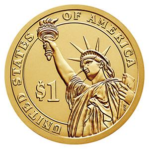 大統領1ドル硬貨(だいとうりょう1どるこうか):裏