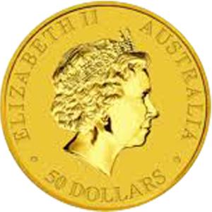 [オーストラリア] カンガルー金貨(かんがるーきんか):表
