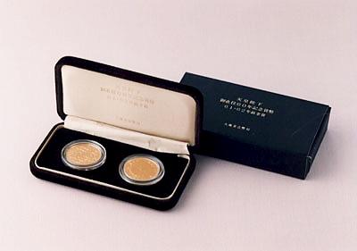 昭和61年と昭和62年の金貨セット